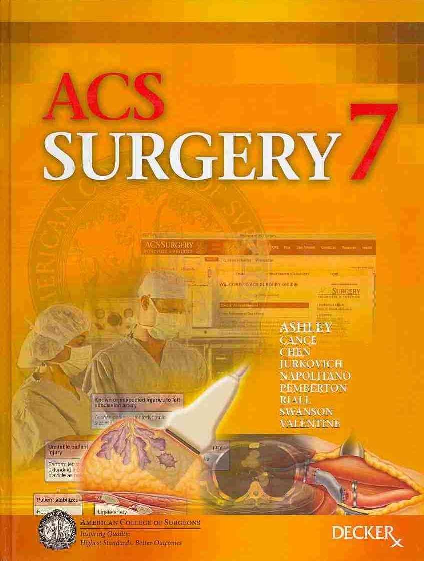 ACS Surgery By Ashley, Stanley W., M.D. (EDT)/ Cance, William G. (EDT)/ Chen, Herbert (EDT)/ Jurkovich, Gregory (EDT)/ Napolitano, Lena (EDT)